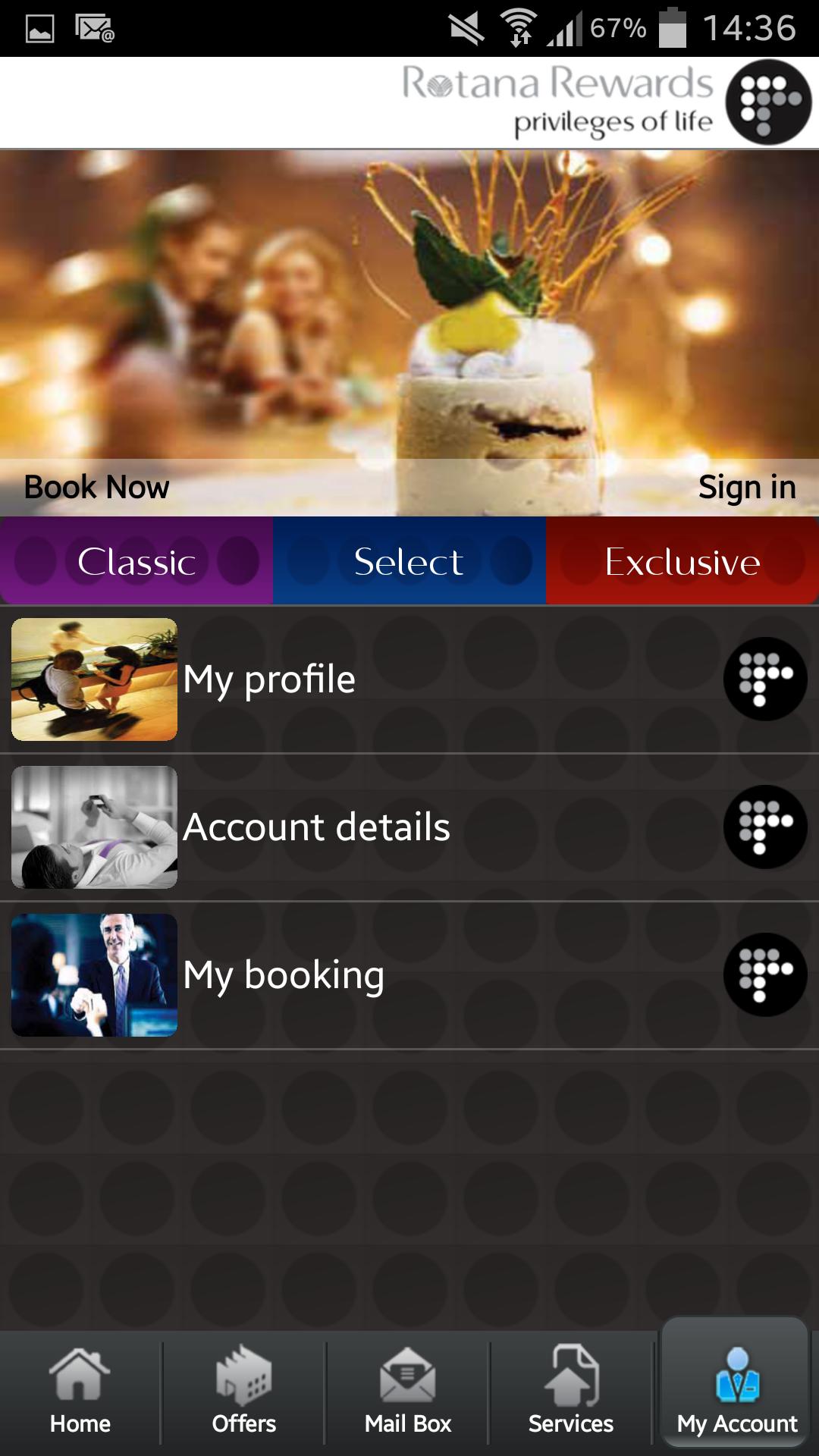 application mobile hotel