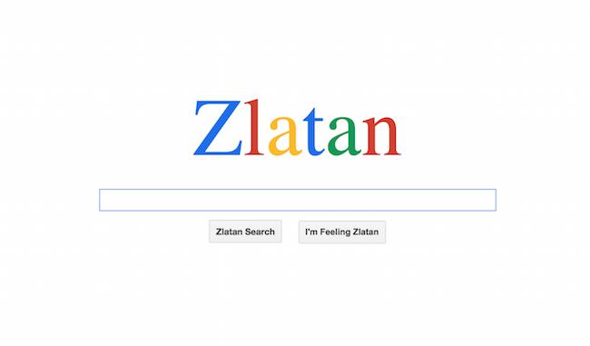 Zlatan moteur de recherche Google