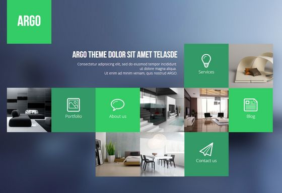 argo -  flat design template