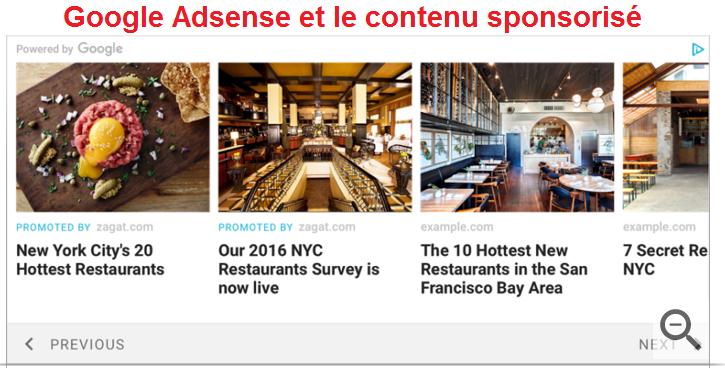 Google Adsense : Le nouveau format pub de Google.