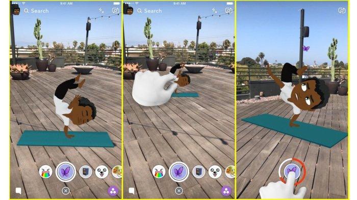 Nouveauté Snapchat : Votre Bitmoji animé en 3D