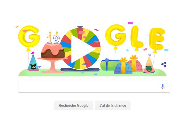 Joyeux Annniversaire Google !