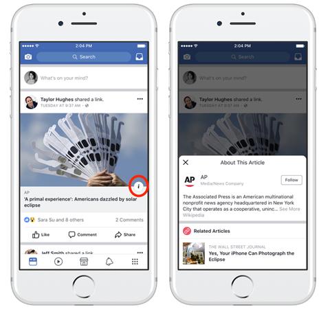 Facebook lutte contre les Fake News